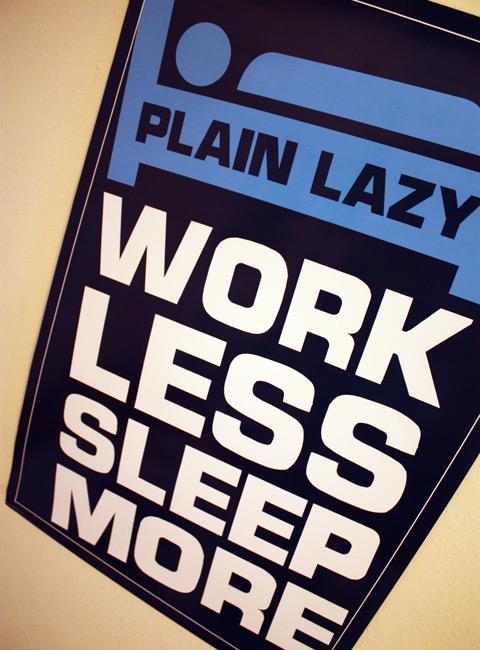 Plain Lazy Poster