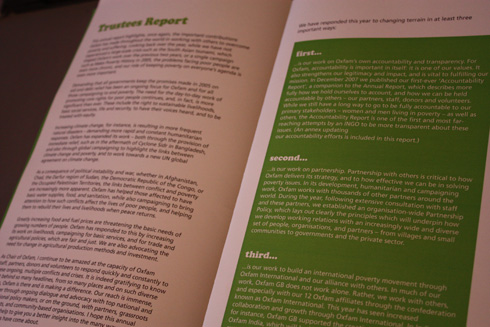 Oxfam Annual Report